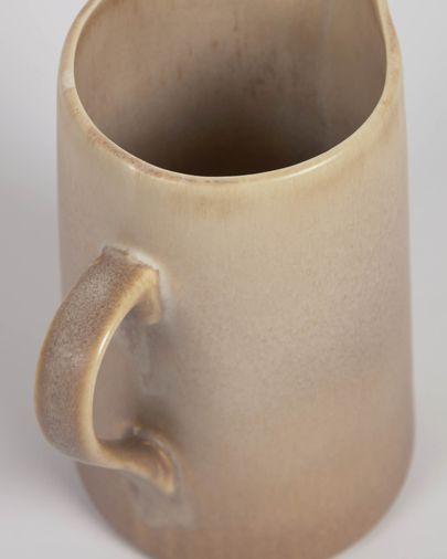 Jarra de leche Vreni de cerámica beige