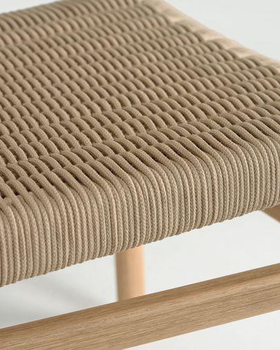 Cadira Galit de fusta massissa eucaliptus amb acabat natural i corda beix