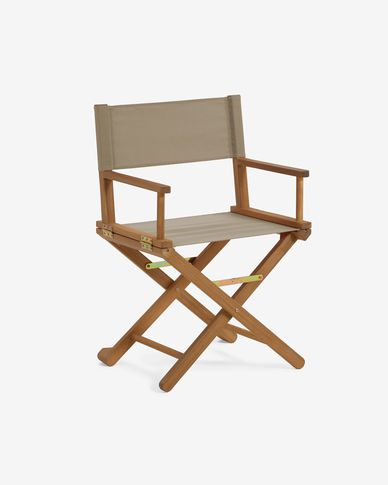 Sedia pieghevole da esterno Dalisa verde in legno massello di acacia