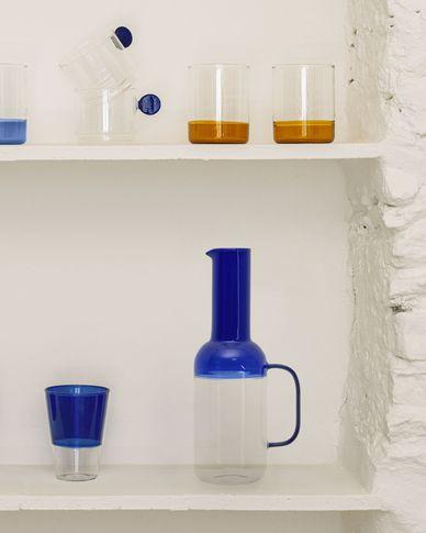 Kan Diara van transparant en blauw glas