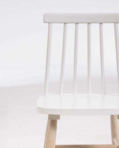 Kinderstoel Tressia in massief rubberhout met wit en natuurlijke afwerking
