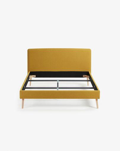Capa de cama Dyla mostarda 150 x 190 cm