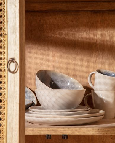 Bol Sachi de cerámica azul claro