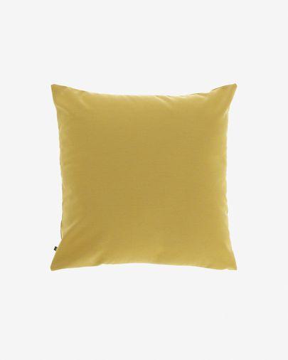Housse de coussin Nedra 45 x 45 cm moutarde