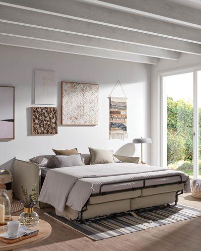 Sofá cama Samsa 160 cm visco beige