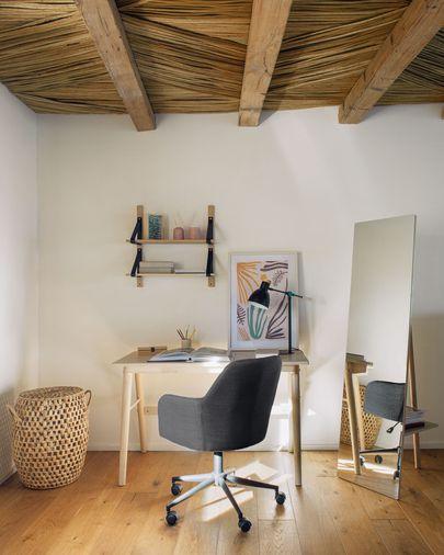 Chaise de bureau Madina gris foncé