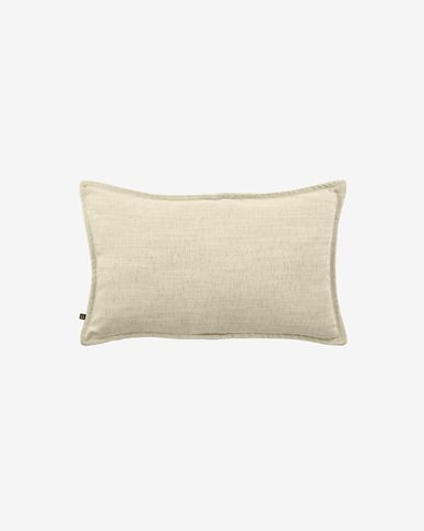 Blok linen cushion cover in white, 30 x 50 cm