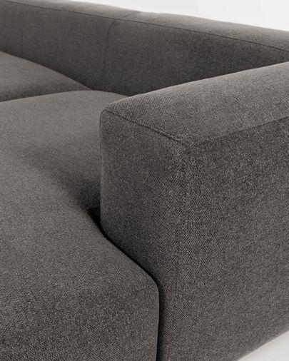 Canapé Blok 3 places méridienne droite gris 300 cm