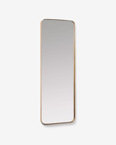 Mirall de paret Marco metall daurat 55 x 150,5 cm