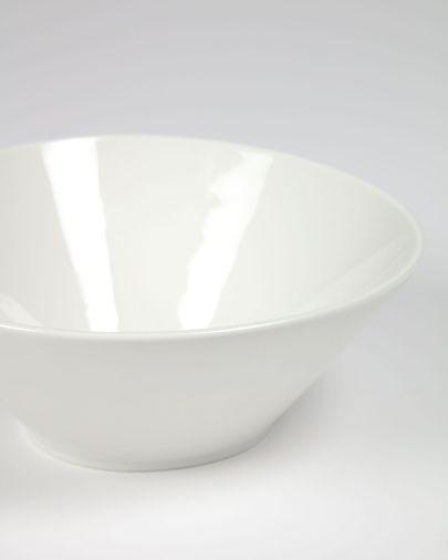 Middelgrote, ovalen porseleinen kom Pierina wit