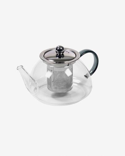 Dolis transparent and grey glass teapot