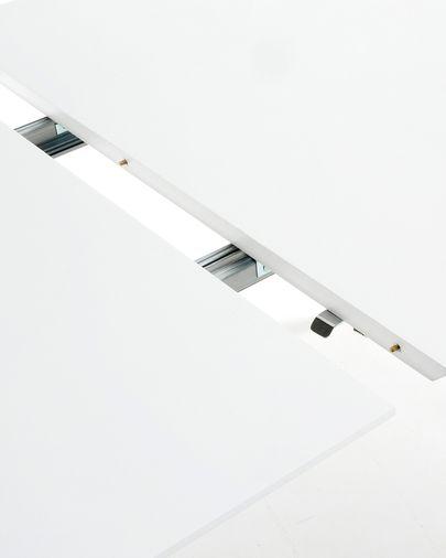 Oqui uitschuifbare ovale tafel 160 (260) x 100 cm wit
