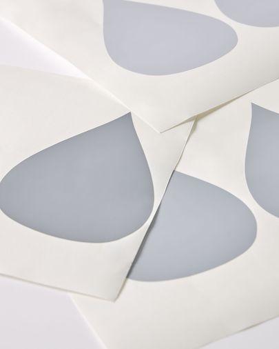 Vinilo de pizarra para pared Ludmila con estampado de nube 73 x 86 cm
