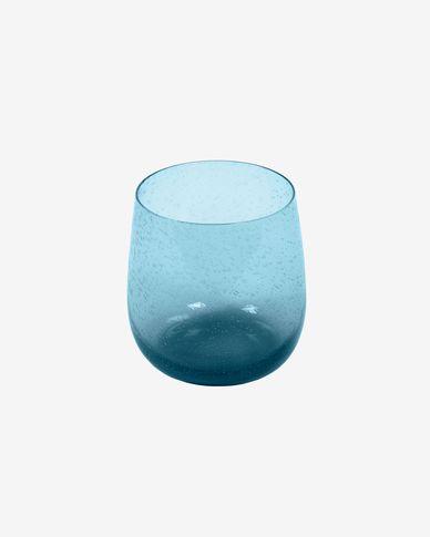 Szklanka Dusnela szkło przezroczyste i niebieskie