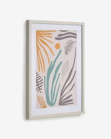 Quadro Kamara alga multicolore 50 x 70 cm