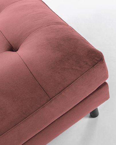 Reposapiés Debra 80 x 80 cm terciopelo rosa