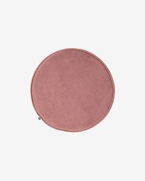 Rimca rond stoelkussen fluweel roze Ø 35 cm