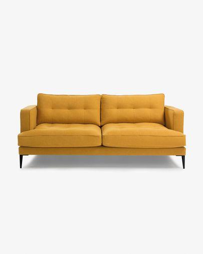 Mustard 3-seater Tanya sofa 183 cm