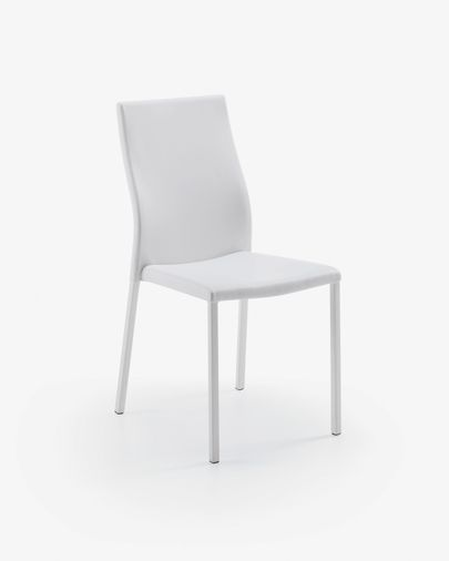Cadira Abelle pell blanc