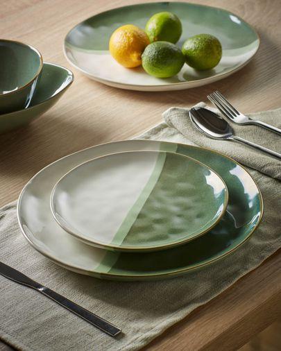 Dessertborden Naara groen en wit