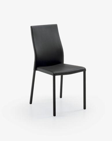 Chaise Abelle polyuréthane noir