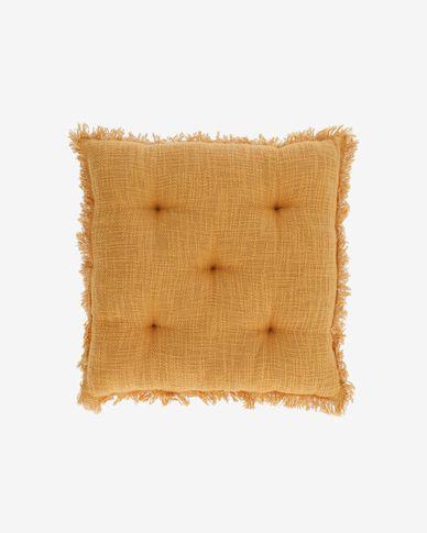Brunela 100% cotton mustard chair cushion 45 x 45 cm