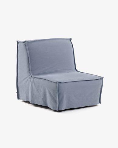 Chauffeuse Lyanna 90 cm bleu