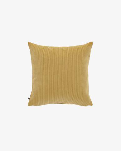 Mustard corduroy Namie cushion cover 45 x 45 cm