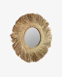 Espejo Rumer de fibras naturales Ø 72 cm