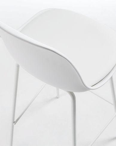 White Brighter barstool height 75 cm