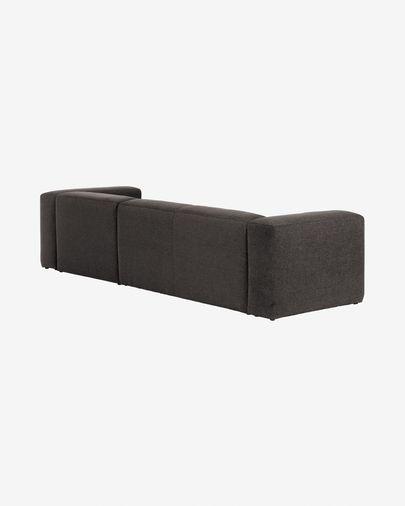 Sofá Blok 3 plazas chaise longue derecho gris 300 cm