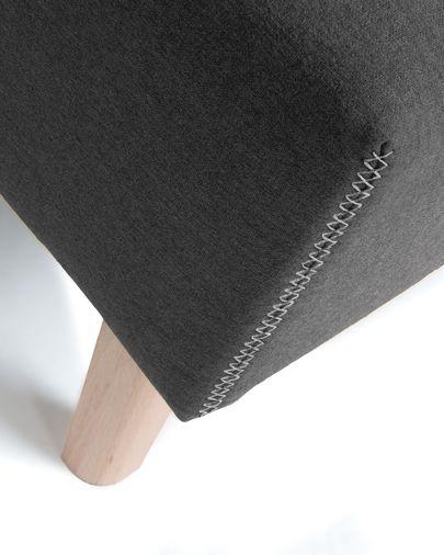 Banquette Dyla graphite 111 cm