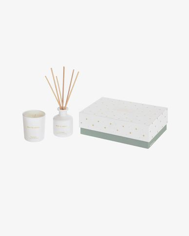 White Soul aromatic candle & diffuser with sticks