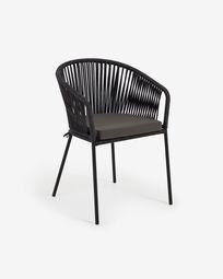 Yanet zwart touw stoel
