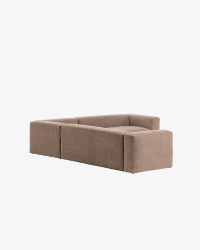 Sofá de canto Blok 5 lugares rosa 320 x 290 cm
