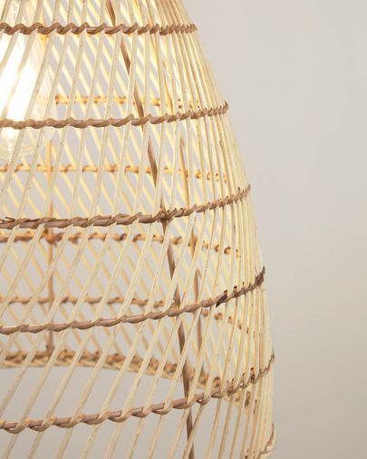 Abat-jour pour suspension Dunya 100% rotin finition naturelle Ø 35 cm