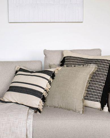 Brafton black stripes cushion cover 45 x 45 cm