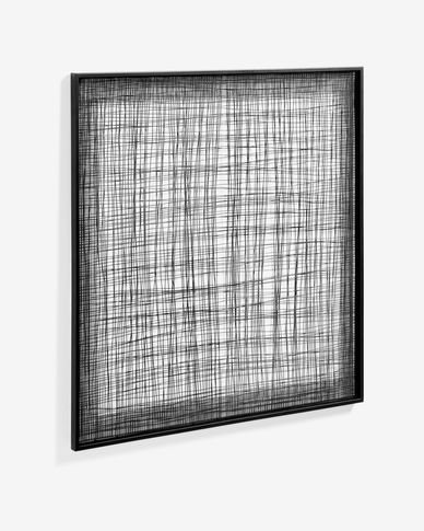 Quadro metálico Christine 79 x 79 cm