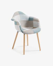 Cadira Kevya patchwork blau