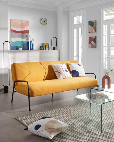Neiela sofa bed in mustard 180 cm