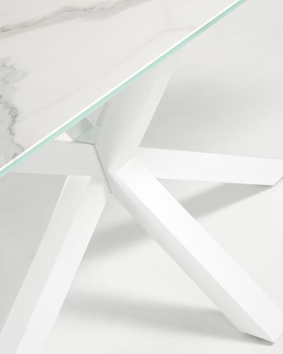Taula Argo 160 cm porcelànic potes blanc