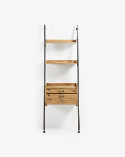 Mobela shelving unit 67 x 200 cm with drawers