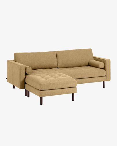Debra 3-zits met mosterd voetbank 222 cm