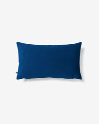 Lita cushion cover 30 x 50 cm blue velvet