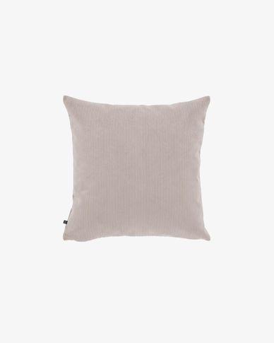 Fodera cuscino Namie 45 x 45 cm velluto a coste rosa
