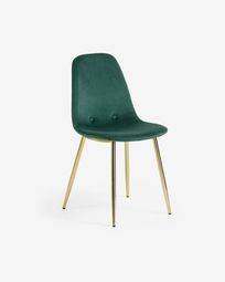 Yaren green velvet chair