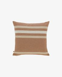Sydelle striped maroon cushion cover 45 x 45 cm