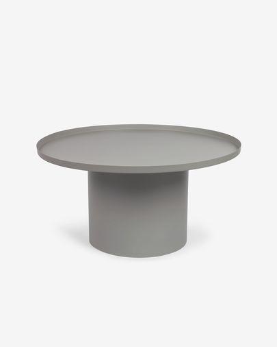 Mesa auxiliar redonda Fleksa de metal gris Ø 72 cm