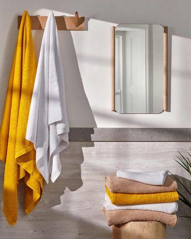 Miekki large bath towel mustard