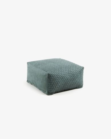 Pouf Indam 60 x 60 cm turquoise
